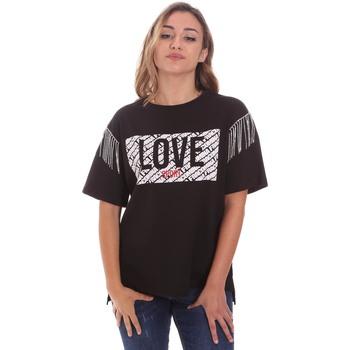 textil Dame T-shirts m. korte ærmer Fracomina FT21ST3003J400N5 Sort