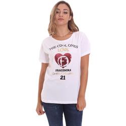textil Dame T-shirts m. korte ærmer Fracomina FP21ST3023J40013 hvid