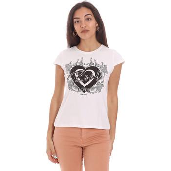 textil Dame T-shirts m. korte ærmer Gaudi 111FD64017 hvid