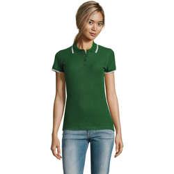 textil Dame Polo-t-shirts m. korte ærmer Sols PRACTICE POLO MUJER Verde