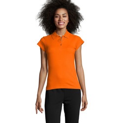 textil Dame Polo-t-shirts m. korte ærmer Sols PRESCOTT POLO MUJER Naranja