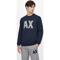 textil Sweatshirts EAX Sweatshirt col rond  6KZMFG-ZJ5UZ navy bleu marine