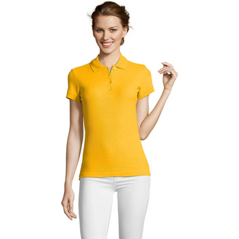 textil Dame Polo-t-shirts m. korte ærmer Sols PEOPLE POLO MUJER Amarillo