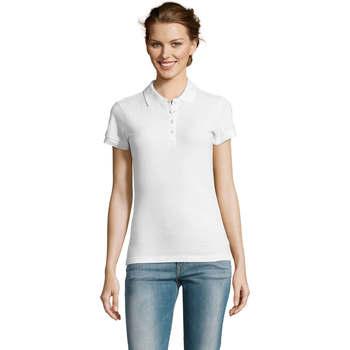 textil Dame Polo-t-shirts m. korte ærmer Sols PEOPLE POLO MUJER Blanco