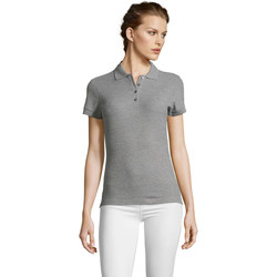 textil Dame Polo-t-shirts m. korte ærmer Sols PEOPLE POLO MUJER Gris