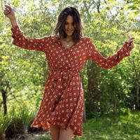 textil Dame Korte kjoler Soi Paris x Spartoo PAPILLES Brun