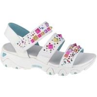 Sko Dame Sandaler Skechers Dlites 20 Studded Wayz Hvid