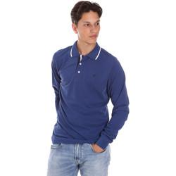 textil Herre Polo-t-shirts m. lange ærmer Key Up 2L711 0001 Blå