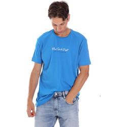 textil Herre T-shirts m. korte ærmer Key Up 2S438 0001 Blå