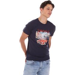 textil Herre T-shirts m. korte ærmer Key Up 2S427 0001 Blå
