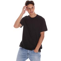 textil Herre T-shirts m. korte ærmer Museum MS21BEUTC08MO938 Sort