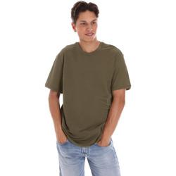 textil Herre T-shirts m. korte ærmer Museum MS21BEUTC08MO938 Grøn