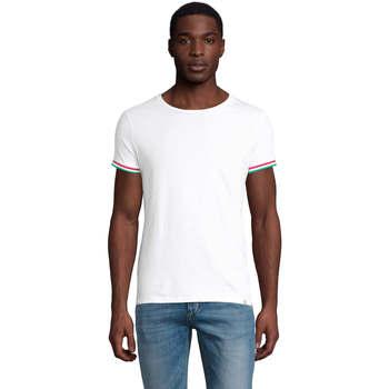 textil Herre T-shirts m. korte ærmer Sols CAMISETA MANGA CORTA RAINBOW Blanco