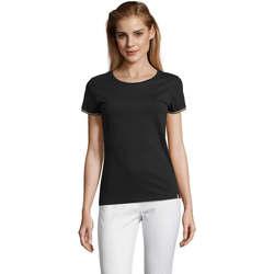 textil Dame T-shirts m. korte ærmer Sols CAMISETA MANGA CORTA RAINBOW Negro