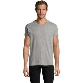 textil Herre T-shirts m. korte ærmer Sols REGENT FIT CAMISETA MANGA CORTA Gris