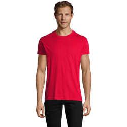 textil Herre T-shirts m. korte ærmer Sols REGENT FIT CAMISETA MANGA CORTA Rojo