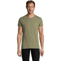 textil Herre T-shirts m. korte ærmer Sols REGENT FIT CAMISETA MANGA CORTA Kaki