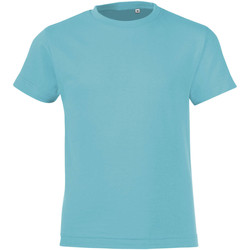 textil Dreng T-shirts m. korte ærmer Sols REGENT FIT CAMISETA MANGA CORTA Azul