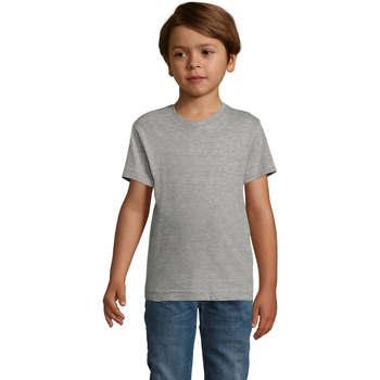 textil Dreng T-shirts m. korte ærmer Sols REGENT FIT CAMISETA MANGA CORTA Gris