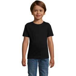 textil Dreng T-shirts m. korte ærmer Sols REGENT FIT CAMISETA MANGA CORTA Negro