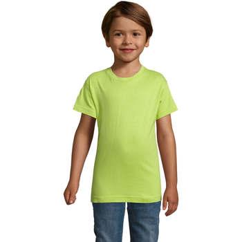 textil Dreng T-shirts m. korte ærmer Sols REGENT FIT CAMISETA MANGA CORTA Verde