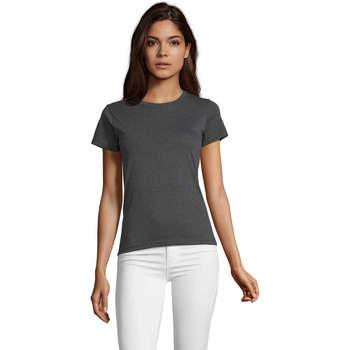 textil Dame T-shirts m. korte ærmer Sols REGENT FIT CAMISETA MANGA CORTA Gris