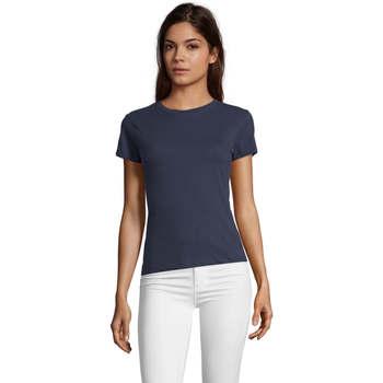 textil Dame T-shirts m. korte ærmer Sols REGENT FIT CAMISETA MANGA CORTA Azul