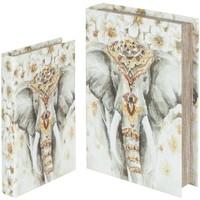 Indretning Kurve og æsker Signes Grimalt Elefant bogkasser sæt 2U Multicolor