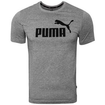 textil Herre T-shirts m. korte ærmer Puma Ess Logo Tee Grå