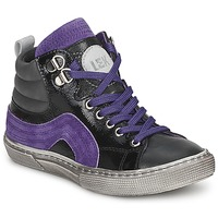 Sko Dreng Høje sneakers Little Mary OPTIMAL Sort / Violet