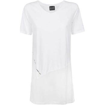 textil Dame T-shirts m. korte ærmer Ea7 Emporio Armani 3KTT36 TJ4PZ hvid
