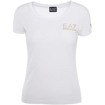 textil Dame T-shirts m. korte ærmer Ea7 Emporio Armani 8NTT65 TJ28Z hvid