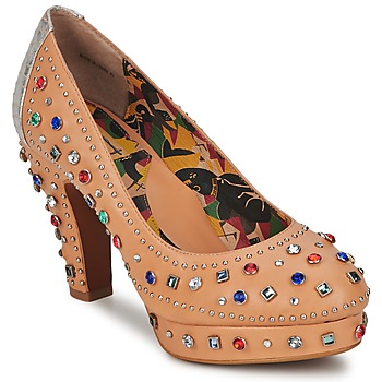Sko Dame Pumps Miss L'Fire SHOWGIRL BEIGE