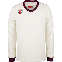 textil Sweatshirts Gray-Nicolls GN029 Maroon/Ivory