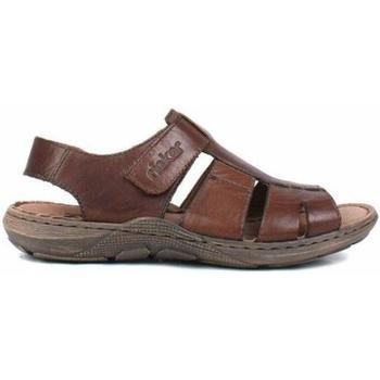 Sko Herre Sandaler Rieker Nougat Brown Sandals Brun