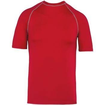 textil T-shirts m. korte ærmer Proact PA4007 Sporty Red