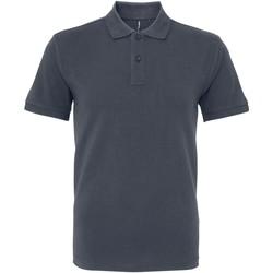 textil Herre Polo-t-shirts m. korte ærmer Asquith & Fox AQ082 Graphite