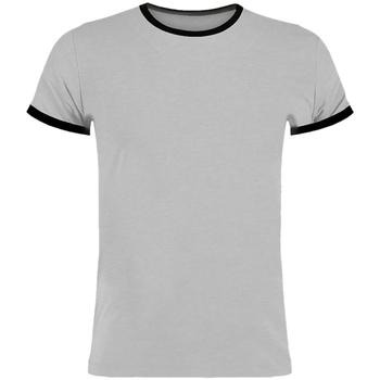 textil Herre T-shirts m. korte ærmer Kustom Kit KK508 Light Grey Marl/Black