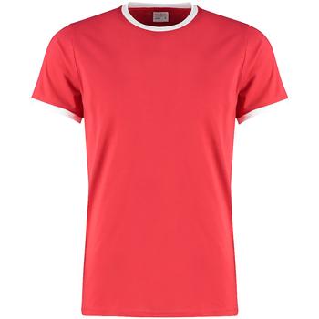 textil Herre T-shirts m. korte ærmer Kustom Kit KK508 Red/White
