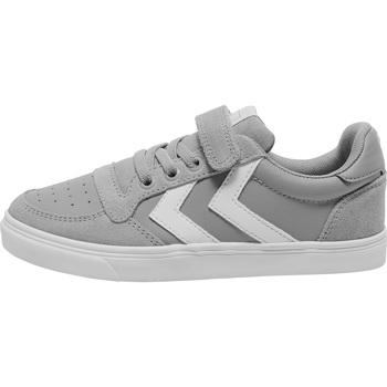Sko Børn Lave sneakers Hummel Baskets enfant  slimmer stadil leather low gris
