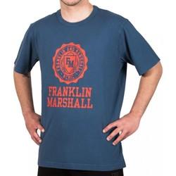 textil Herre T-shirts m. korte ærmer Franklin & Marshall T-shirt Franklin & Marshall Classique bleu marine