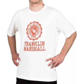 textil Herre T-shirts m. korte ærmer Franklin & Marshall T-shirt Franklin & Marshall Classique blanc crème