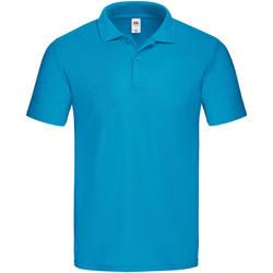 textil Herre Polo-t-shirts m. korte ærmer Fruit Of The Loom 63050 Azure Blue