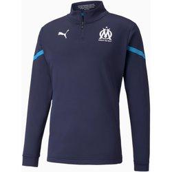 textil Herre Sweatshirts Puma Sweat Olympique de Marseille Prematch bleu marine/bleu azur
