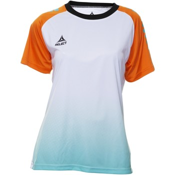 textil Dame T-shirts m. korte ærmer Select T-shirt femme  Player Femina orange/blanc/vert