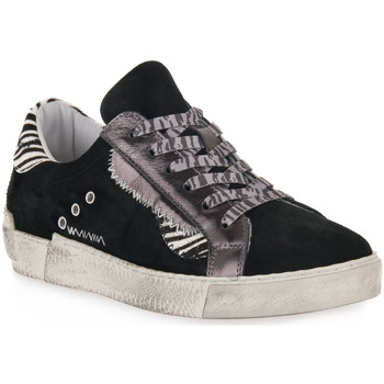 Sko Dame Lave sneakers At Go GO 4102 VELOUR NERO Nero