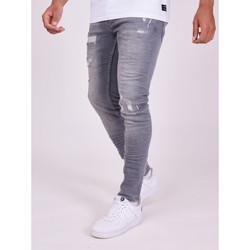 textil Herre Bukser Project X Paris Pantalon Jeans Slim effet usé gris foncé