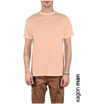 textil Herre T-shirts m. korte ærmer Xagon Man  Pink