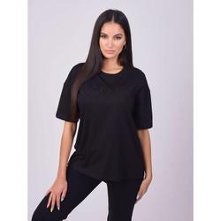 textil Dame T-shirts m. korte ærmer Project X Paris T-shirt femme basic noir