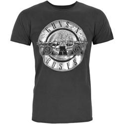 textil Herre T-shirts m. korte ærmer Amplified  Charcoal/Silver